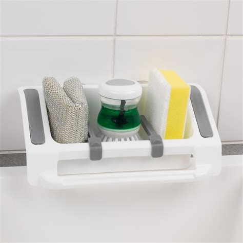 beldray plastic wall suction storage sink caddy beldray