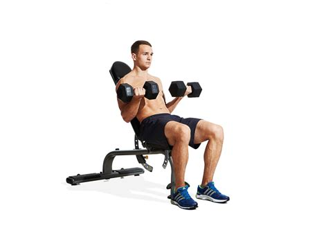 Seated Incline Dumbbell Curl Video
