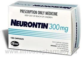 Neurontin 300mg 100 Capsulespack (gabapentin