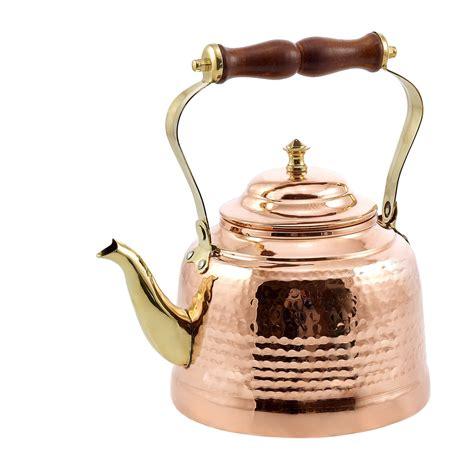 dutch international  solid copper hammered tea kettle  wood handle  qt lionsdeal