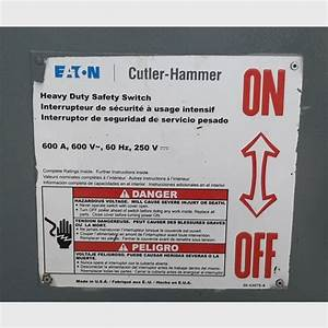 Cutler Hammer 600 Amp Manual Transfer Switch