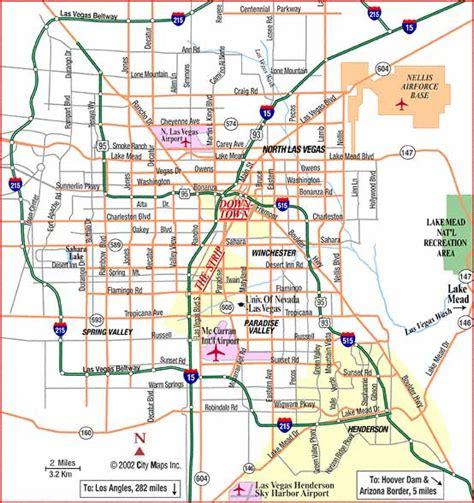 map  las vegas  printable maps