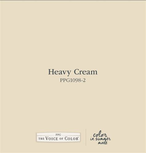 heavy cream ppg1098 2 paint colors i love cream