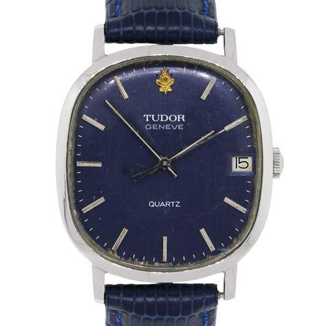 tudor geneve blue dial quartz vintage