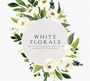 Watercolor floral Clip Art-Floral Frame/Individual PNG