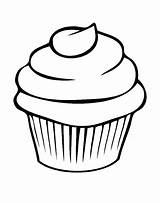 Clipart Cupcake Muffins Simple Transparent Cookie Coloring Pages Pretty Frosting Cookies Webstockreview sketch template