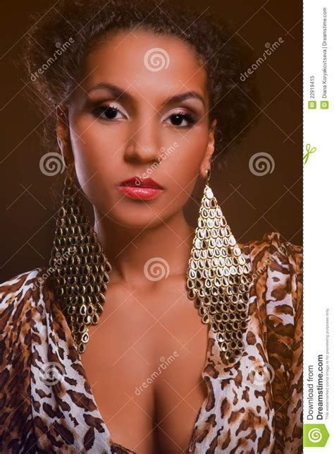Portrait Of A Beautiful Dark Skinned Woman Stock Image Image Of African Elegance 22919415