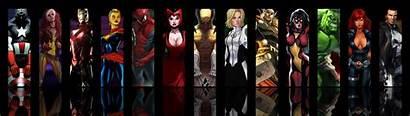Dual Monitor Marvel Superhero Wallpapers Avengers 3840