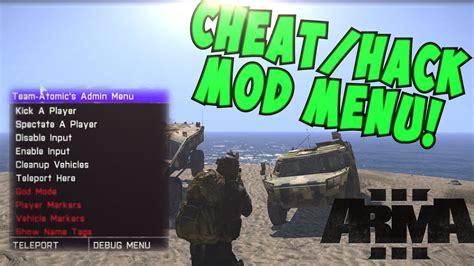 arma menu admin god cheat mode hack