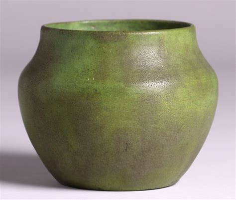 volkmar pottery matte green vase california historical
