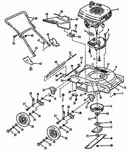 Deck  Shroud And Handle Group Diagram  U0026 Parts List For