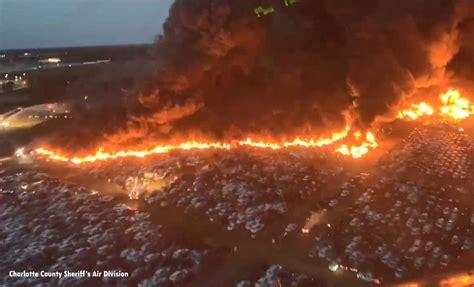 thousands  rental cars burn  fl fire fire engineering