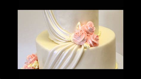 Peach Theme Wedding Cake- Two Tier Wedding Cake