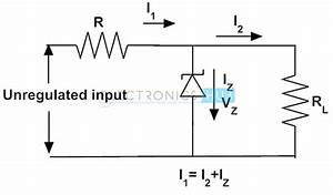 Zener Diode As Voltage Regulator And Its V