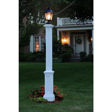 wood light pole cost mayne signature l post wh with mount 5835 w the home