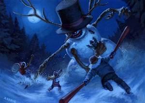 Alex's Sketchbook: Evil snowman!!!