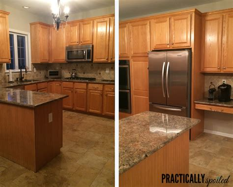 painting oak kitchen cabinets from to great a tale of painting oak cabinets 4055