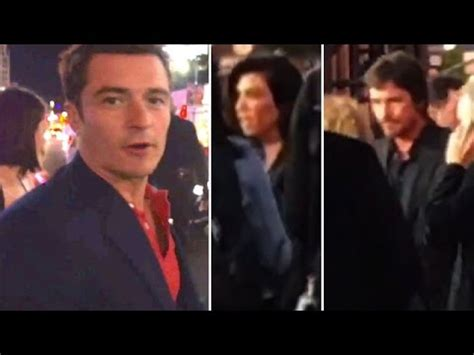 Orlando Bloom Attending The Promise Premiere With Kourtney