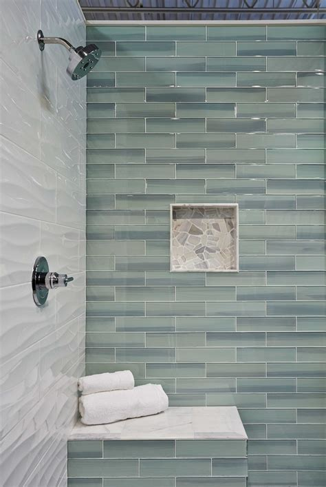 glass tile ideas for small bathrooms bathroom shower wall tile glass subway tile