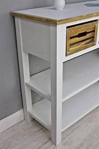 Sideboard Weiß Braun : konsole sideboard wei braun massiv holz ~ Buech-reservation.com Haus und Dekorationen