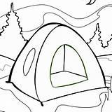 Tent Coloring Sheets Adults Printable Kleurplaten Kleurplaat Coloringdoo sketch template