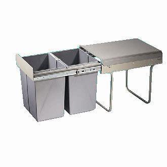 kitchen bin sink new 40l pull out kitchen waste bin sink cabinet 5122