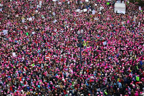 Image result for wikicommons Images pink hats for women's march