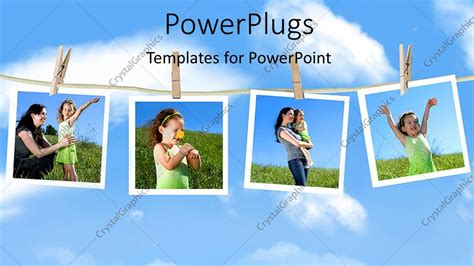 powerpoint template family depictions hanging