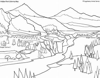 Coloring Park Pages National Yosemite Yellowstone Zion