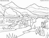 Coloring Park Pages National Yellowstone Colouring Bench Bear Printable Map Sheets Getcolorings Frozen Parks Hidden Glacier Welcome sketch template