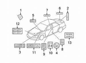 Cadillac Sts Label  Battery  Caution  Battery  Engine