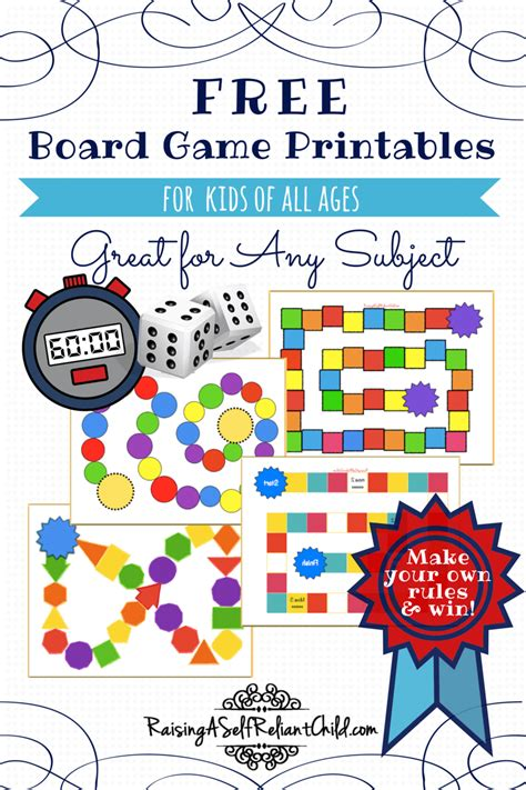 board games printable templates homeschool