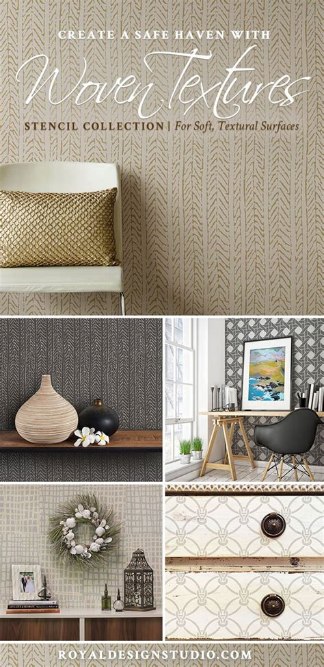 woven textures stencils diy texture wall designs