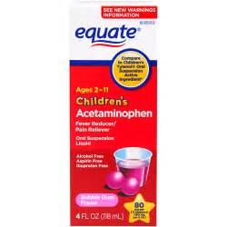 Equate Children's Pain Relief Oral Suspension Liquid Bubble Gum Flavor ...  Aspirin Gum Headache