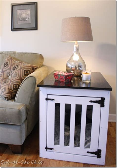 cul de sac chic ana white dog kennel  table