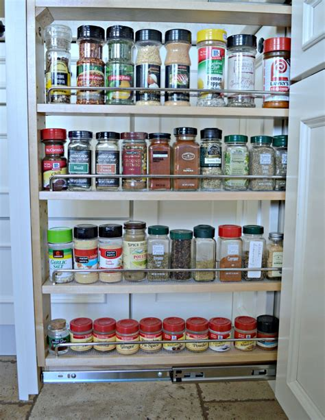 Roll Out Spice Rack by Tips For Designing An Organized Kitchen