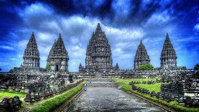 Temple Prambanan Wallpapers Golden Temples Hindu Indonesia