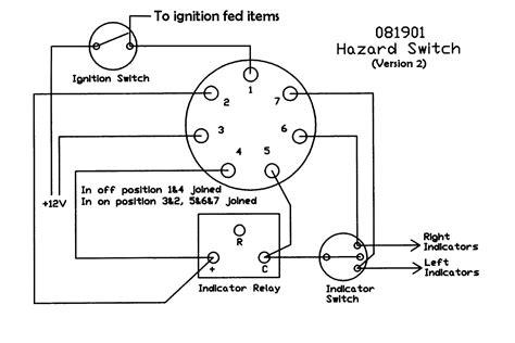 Panel Mounted Push Hazard Switch