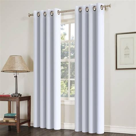 pcs blackout curtains thermal insulated solid grommets