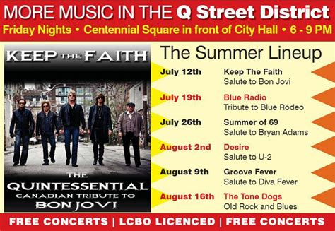 Concerts In Niagara Falls Music In The Park