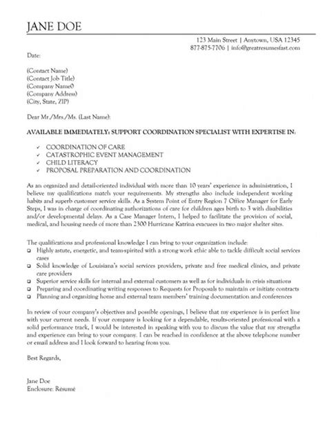Bullet Points In Cover Letter by Cover Letter With Bullet Point Exles Researchon Web