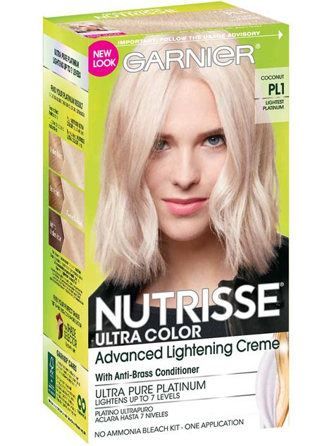 What Is The Lightest Hair Dye by Nutrisse Ultra Color Lightest Platinum Hair Color Garnier