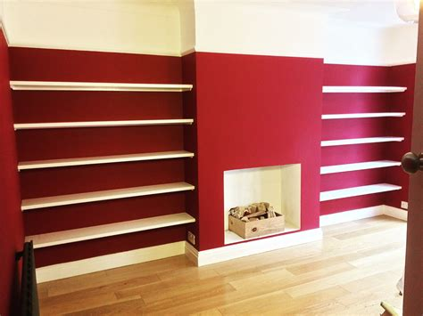solid wood bespoke alcove shelving made from solid wood by adam j whittle