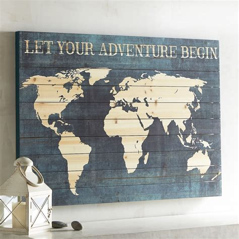 wood map wall adventure map planked wall decor pier 1 imports 1600