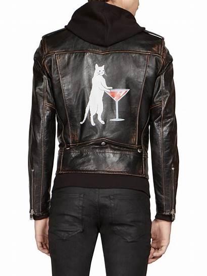 Cat Jacket Leather Martini Laurent Saint Moto