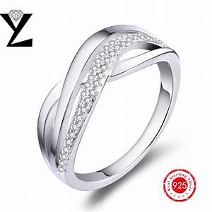 authentic 925 sterling silver wedding ring white gold With white gold plated wedding rings