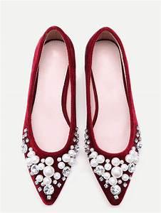 pompes pointue velours avec bijoux embelli bordeaux rouge With robe fourreau combiné avec acheter charms