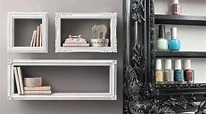Etagere Pour Cadre Photo : recup un cadre tag re l 39 accessoire du rangement ~ Premium-room.com Idées de Décoration