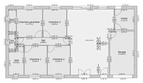 plan de maison plain pied 3 chambres gratuit awesome exposition plan maison chambres avis plan maison