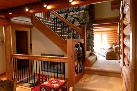Cabin Stair Remodel and Bathroom Addition   Traditional